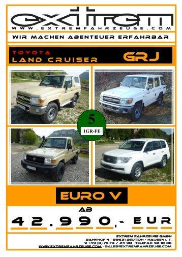 Technische Daten Toyota Land Cruiser GRJ - extremfahrzeuge
