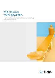 Mit Effizienz mehr bewegen. - highQ Computerlösungen GmbH