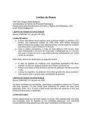 limites de doses ocupacionais - HO - Higiene Ocupacional