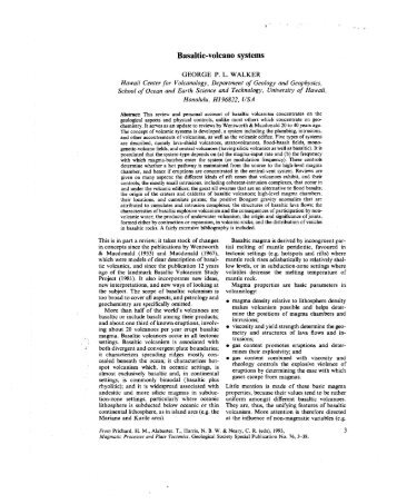 Basaltic-volcano systems - Hawaii Institute of Geophysics and ...