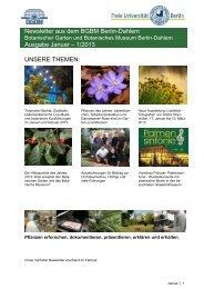Newsletter aus dem BGBM Berlin-Dahlem Ausgabe Januar – 1 ...