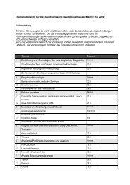 Themenkatalog für die Hauptvorlesung Neurologie (Melms / Gasser ...