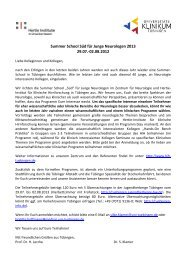 Einladung und Programm - Hertie-Institut für klinische Hirnforschung
