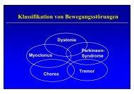 Klassifikation von Bewegungsstörungen