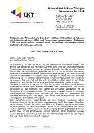 Universitätsklinikum Tübingen Neurologische Klinik