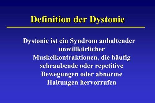 Sekundäre Dystonien