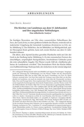 Die Kirchen von Landstrass aus dem 13. Jahrhundert und ihre ... - EPA