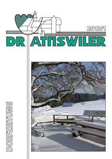 Ausgabe 1/2013 - Gemeinde Attiswil
