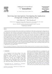 Investigating the implications of long-term working memory theory