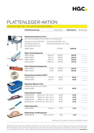 PLATTENLEGER-AKTION