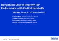 Using Quick-Start to Improve TCP Performance with Vertical Hand-offs