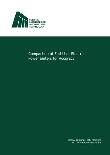 Comparison of End‐User Electric Power Meters for Accuracy