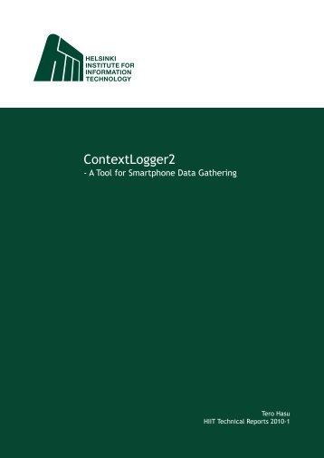 ContextLogger2 - Helsinki Institute for Information Technology HIIT