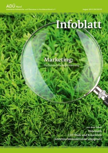 ADÜ Nord Infoblatt | Ausgabe 04-2013