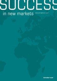 Geschäftsbericht 2007 - Binder+Co AG