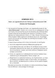 Kriterien - Thüringer Landesmedienanstalt
