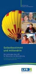 Selbstbestimmt leben(PDF, 757 kB, barrierefrei)