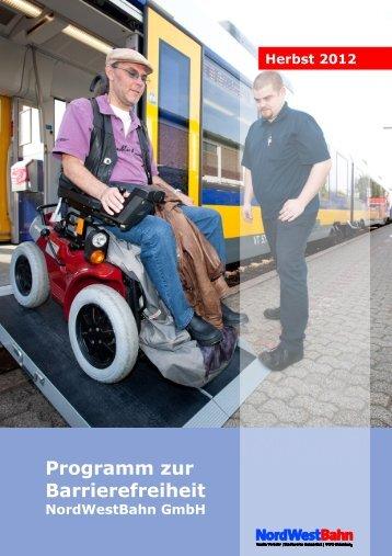 Programm zur Barrierefreiheit der NordWestBahn GmbH