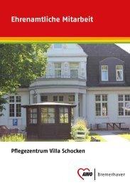 Flyer Ehrenamtlich in der Villa Schocken - AWO Bremerhaven