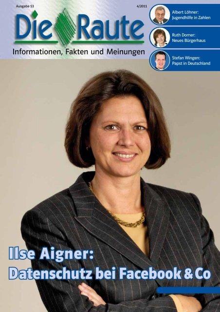 Ilse Aigner: Datenschutz bei Facebook & Co - Csu-neumarkt.de