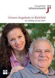 Broschüre Altenheime Bielefeld - Johanneswerk