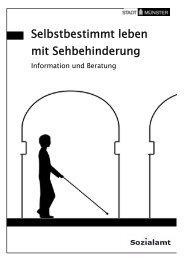 Selbstbestimmt leben mit Sehbehinderung - KOMM Münster