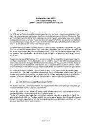 Antworten der SPD - Lesben- und Schwulenverband in Deutschland