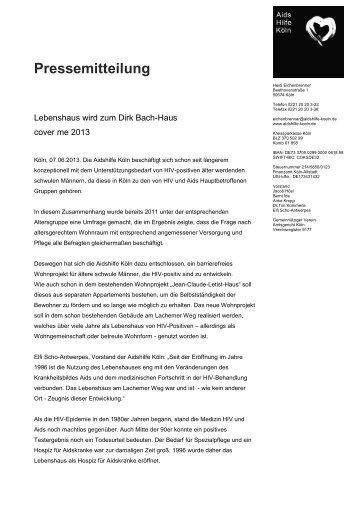Pressemitteilung - Aidshilfe Köln