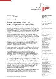Pressemeldung 16 2013 Engagement Jugendlicher mit Heinz