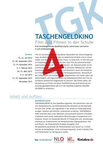 Flyer Taschengeldkino - Bundesakademie für Kulturelle Bildung ...
