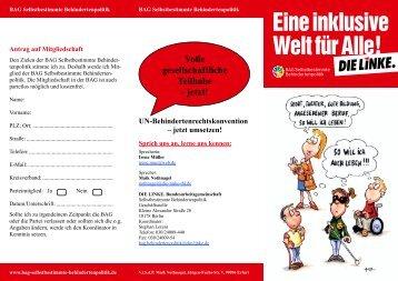 Flyer_Li_BAG-Behindertenpolitik - Die Linke NRW