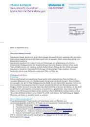 Thema kompakt - Diakonie Deutschland