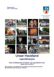 Jugendförderplan 2013/2014 - Landkreis Havelland