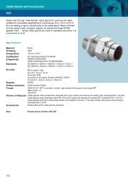 PSF Cable Glands and Accessories