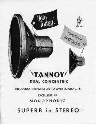 Tannoy Silver brochure