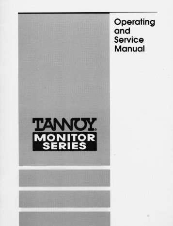 Tannoy DMT series techinfo (PDF format)