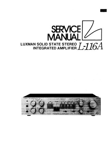 to download the service manual of the L116A
