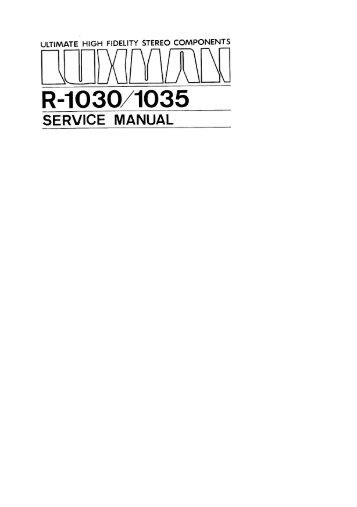 to download the service manual of the R1030 in pdf format