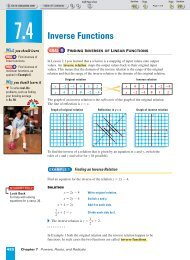 Inverse Functions - Beau Chene High School Home Page