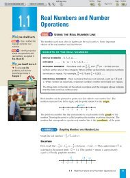 Real Numbers and Number Operations - Beau Chene High School ...