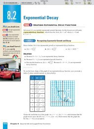 Alg. 2 Chapter 8.2 - Beau Chene High School Home Page