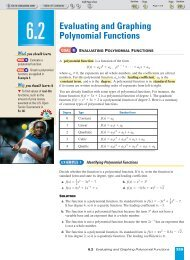 Evaluating and Graphing Polynomial Functions - Beau Chene High ...