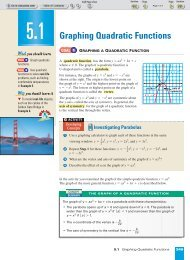 Alg. 2 Chapter 5.1 - Beau Chene High School Home Page