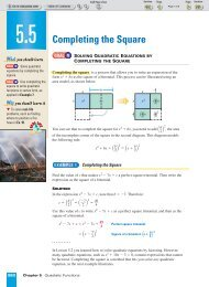 Alg. 2 Chapter 5.5 - Beau Chene High School Home Page