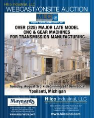 WEBCAST/ONSITE AUCTION - Hilco Industrial