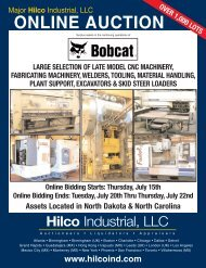 Large selection of late model cnc machinery - Hilco Industrial