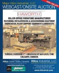 Major Hilco Industrial, LLC WEBCAST/ONSITE AUCTION