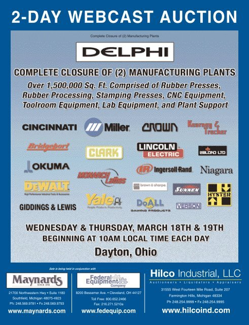 2-DAY WEBCAST AUCTION - Hilco Industrial