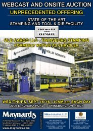 WEBCAST ANd oNSITE AuCTIoN - Hilco Industrial