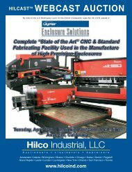 Hilco Industrial, LLC WEBCAST AUCTION